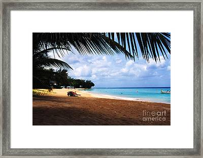 Mullens Beach Barbados Framed Print by Thomas R Fletcher