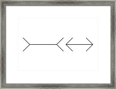 Muller-lyer Illusion Framed Print