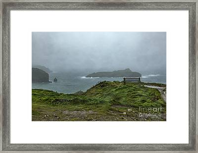 Framed Print featuring the photograph Mullion Cove by Brian Roscorla