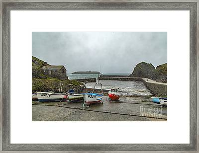 Framed Print featuring the photograph Mullion Cove Harbour by Brian Roscorla