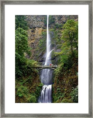 Multanomah Falls Framed Print by Marty Koch