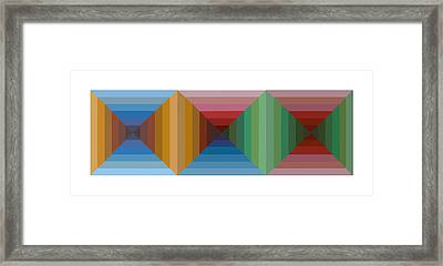 Multi-color Graphic Horizontal Maze Framed Print by Beverly Trivane