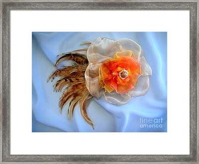 Multi-color Hair Accessory. Ameynra Style Framed Print by Sofia Metal Queen