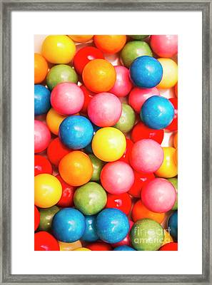 Multi Colored Gumballs. Sweets Background Framed Print by Jorgo Photography - Wall Art Gallery