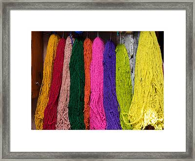 Multi-colored Wool Recently Dyed Framed Print