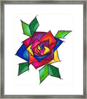 Multi Rose Framed Print