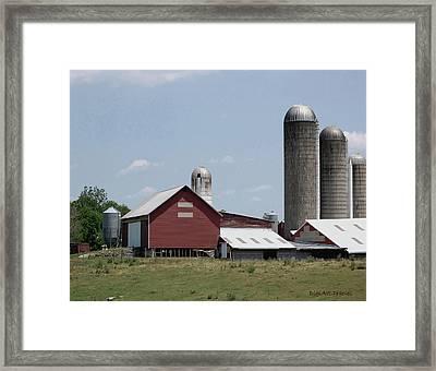 Multi Silo Farm Framed Print