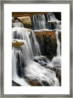 Multi-tiered Cascade  Framed Print