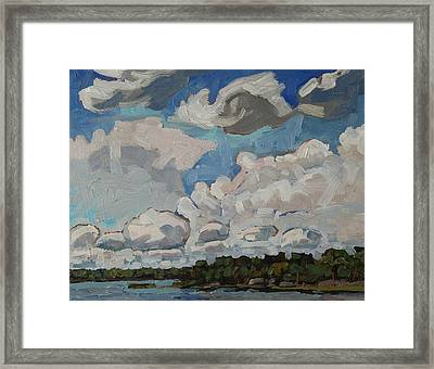 Multicell Thunderstorms Framed Print by Phil Chadwick