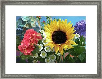 Multicolor Flowers Framed Print