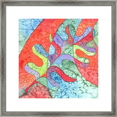 Multicolor Oak Leaf Framed Print