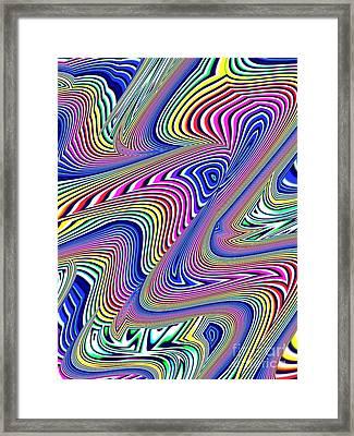 Multicolor Swirls Framed Print