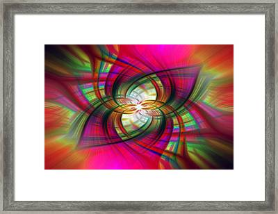Multicolored Flower Twirl  Framed Print by SharaLee Art
