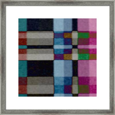Multicolored Pattern Framed Print by Gina Lee Manley