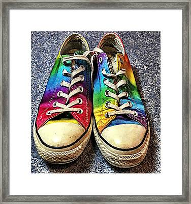 Multicolored Sneakers 1 Framed Print