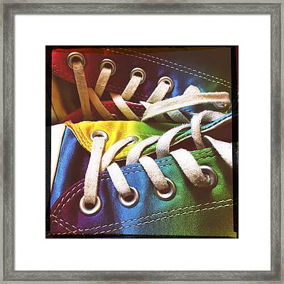 Multicolored Sneakers 10 Framed Print