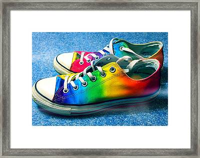 Multicolored Sneakers 2 Framed Print