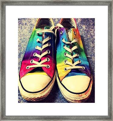 Multicolored Sneakers 3 Framed Print