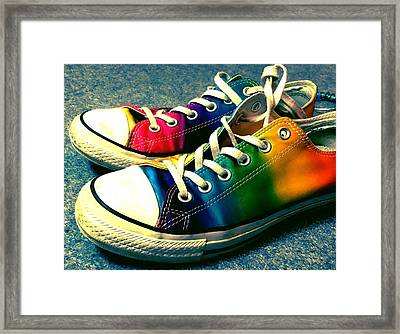 Multicolored Sneakers 5 Framed Print
