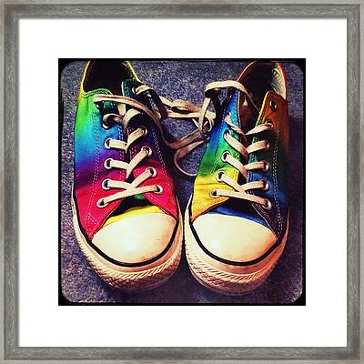 Multicolored Sneakers 6 Framed Print