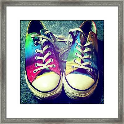 Multicolored Sneakers 7 Framed Print