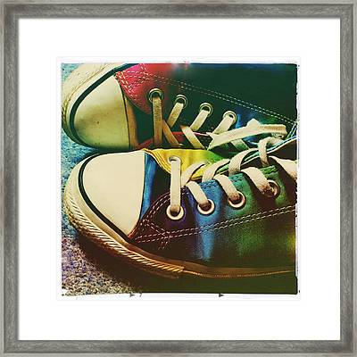 Multicolored Sneakers 9 Framed Print
