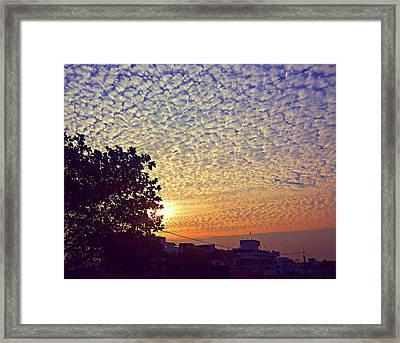 Multicoloured Sky Framed Print