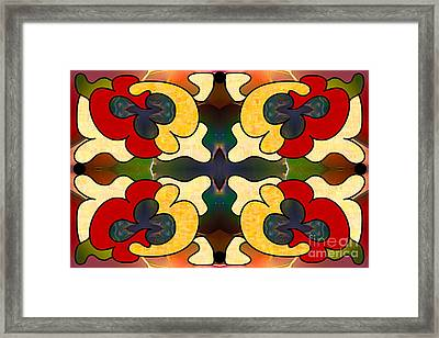 Multidimensional Directions Abstract Art By Omashte Framed Print by Omaste Witkowski