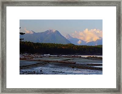 Multileval Photography In One Land Water Trees Mountain Clouds Skyview Olympic National Park America Framed Print