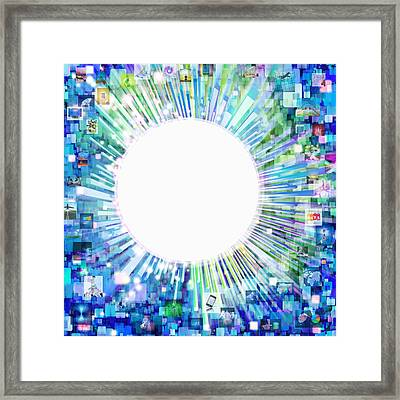 Multimedia Screen And Graphic Design Framed Print by Setsiri Silapasuwanchai