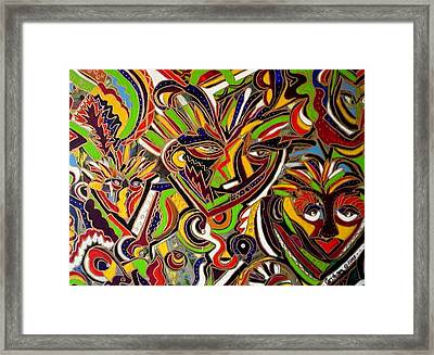 Multiple Personalities Framed Print by Laura  Grisham