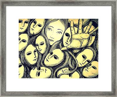Multiple Personalities Framed Print