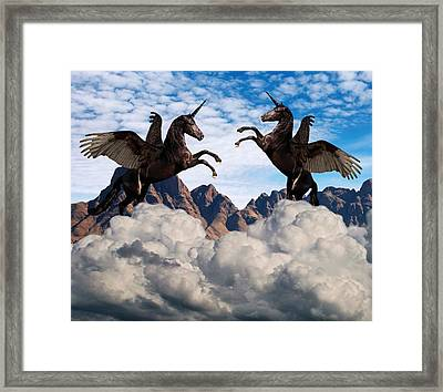 Multiple Personality Framed Print by Solomon Barroa