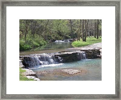 Multiple Waterfalls Framed Print by Julie Grace