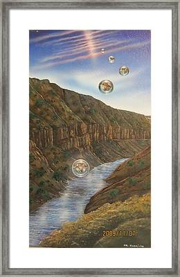 Multiverse 45 Framed Print by Sam Del Russi