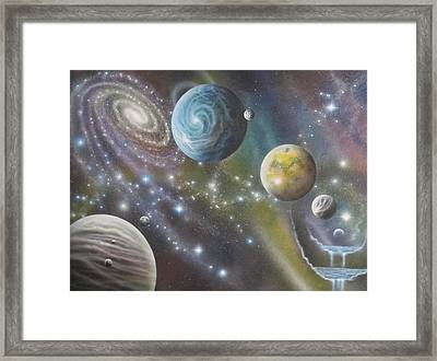 Multiverse 62 Framed Print by Sam Del Russi