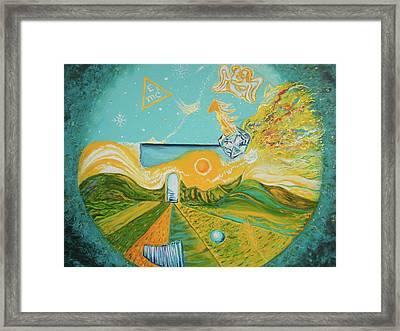 Multiverse Portal Framed Print by Anda Gheorghiu