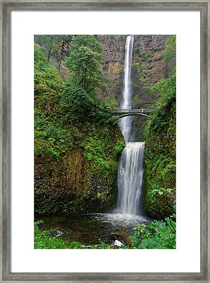 Framed Print featuring the photograph Multnoma Falls by Jonathan Davison