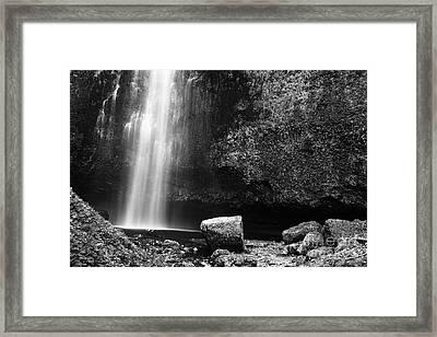 Multnomah Falls Base Framed Print by Charmian Vistaunet
