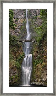 Multnomah Falls - Columbia River Gorge Framed Print by Sandra Bronstein