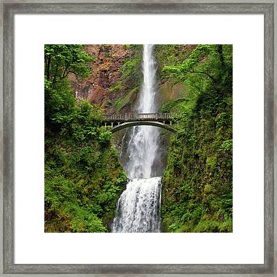 Multnomah Falls Framed Print by Crady von Pawlak