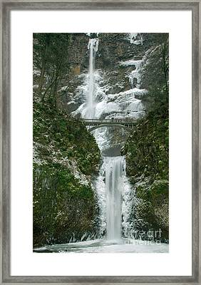 Multnomah Falls Ice Framed Print
