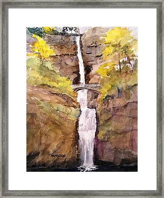 Multnomah Falls Framed Print