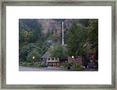 Multnomah Falls Lodge Morning Framed Print