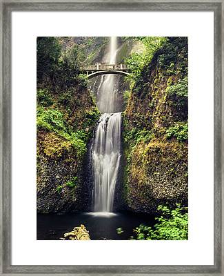 Multnomah Falls Lower Framed Print