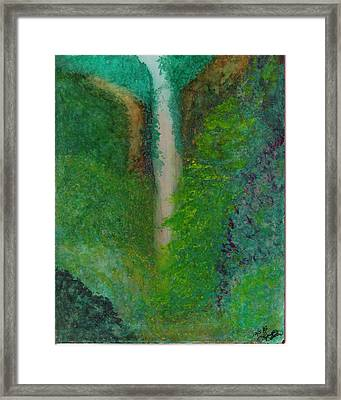 Multnomah Falls Framed Print by Lynnette Jones