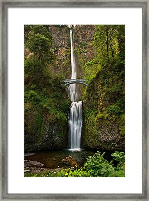 Multnomah Falls Framed Print by Mary Jo Allen
