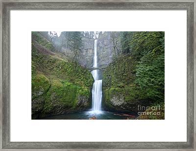Multnomah Falls Oregon Columbia River Gorge Framed Print
