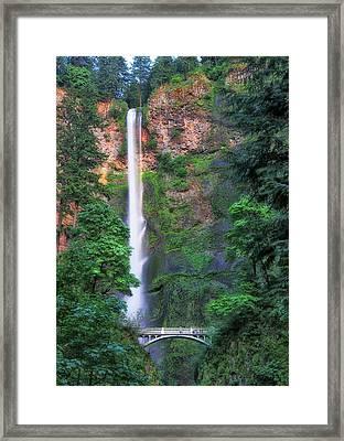 Multnomah Falls Portland Oregon Framed Print
