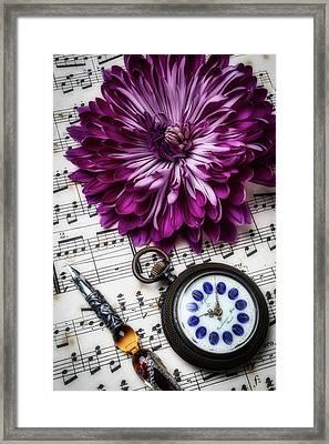 Mum And Pocket Watch Framed Print
